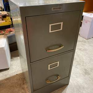 """Lot # 139 - Metal """"Tower"""" Two Drawer File Cabinet"""