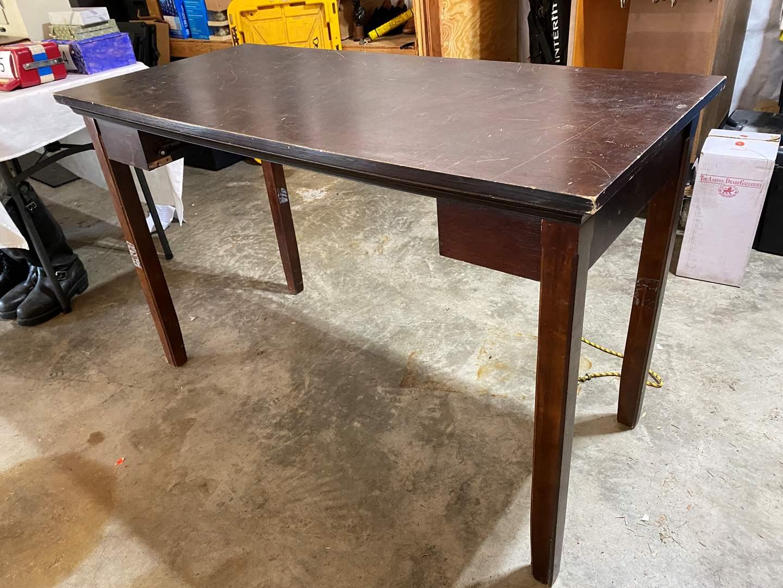 Lot # 141 - Wood Desk  (main image)