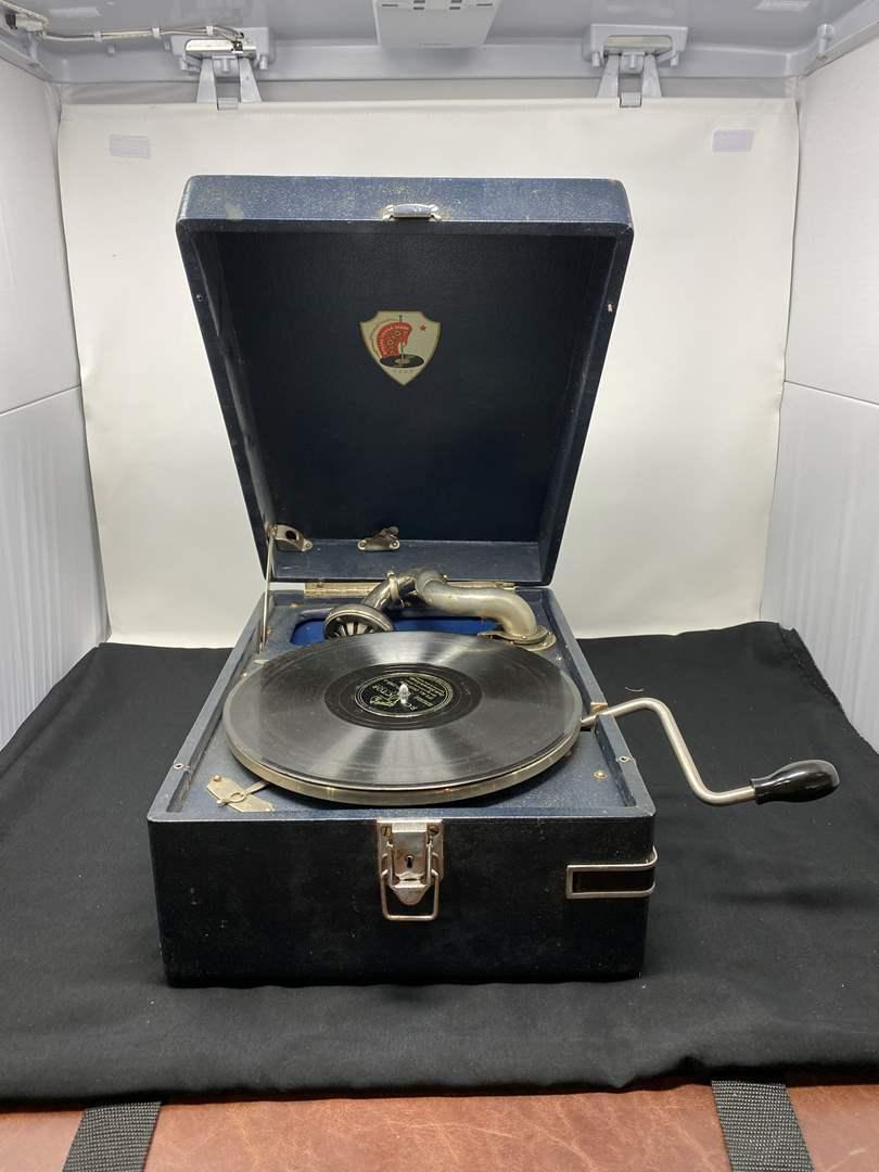 "Lot # 159 - Vintage ""Monot"" Suitcase Victrola - (Works Great) (main image)"
