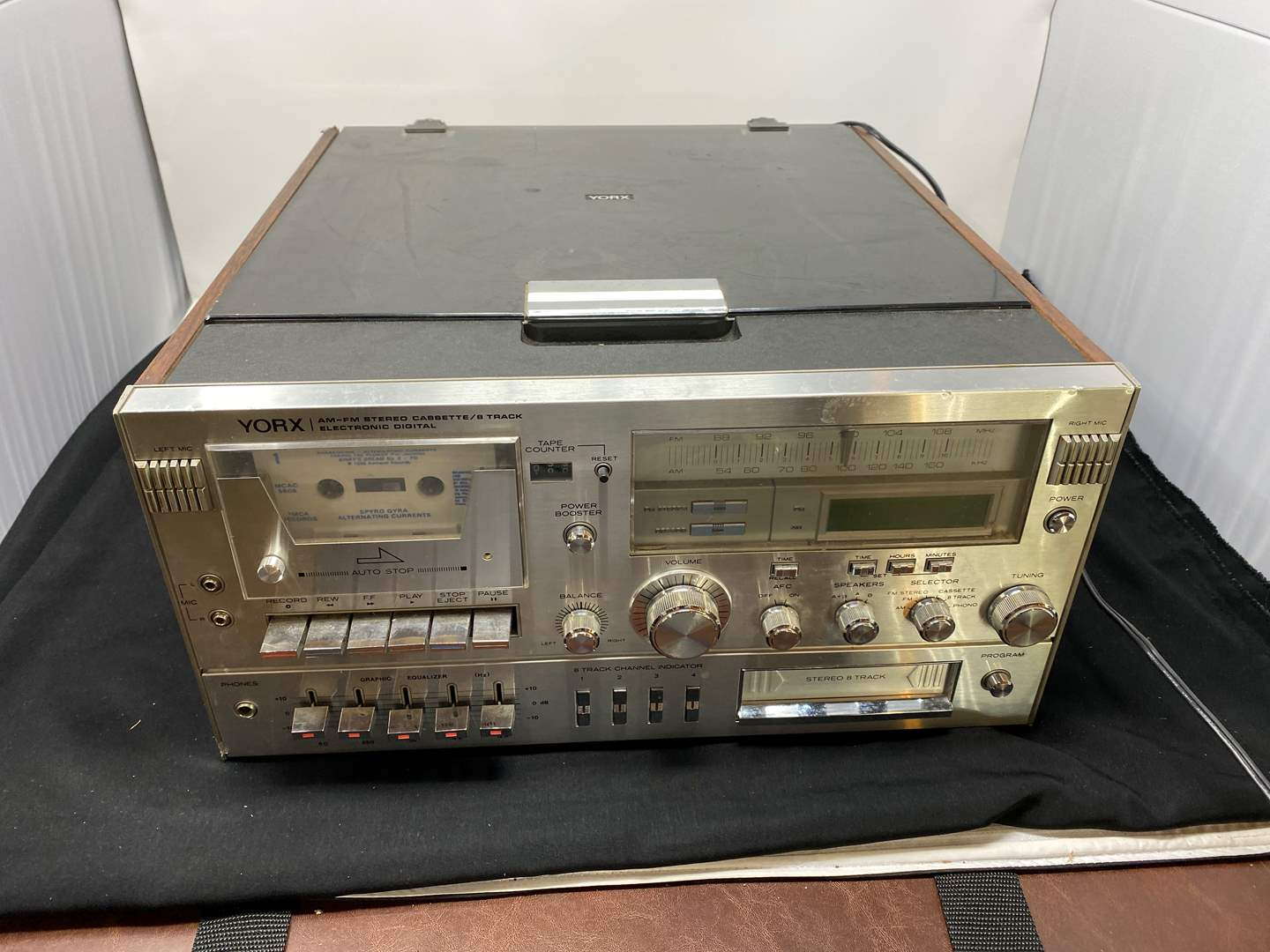 Lot # 161 - Vintage Yorx M2681All-inOne: 8-Track, Cassette Tape, & Record Player (main image)