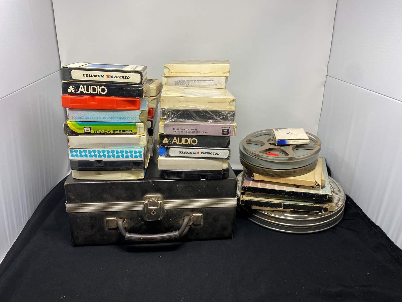 Lot # 162 - Vintage 8-Track Tapes & Reel to Reels (main image)