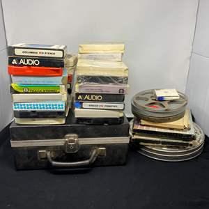 Lot # 162 - Vintage 8-Track Tapes & Reel to Reels
