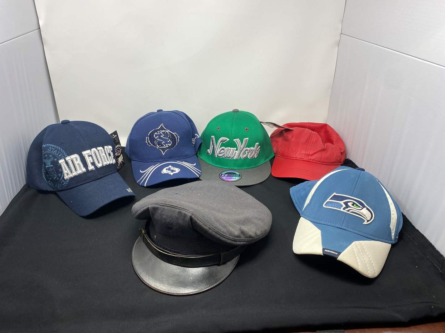 Lot # 168 - Misc. Ball Caps & Military Hat (main image)