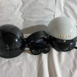Lot # 169 - Two Motorcycle Helmets (Size Small) & Riding Glasses