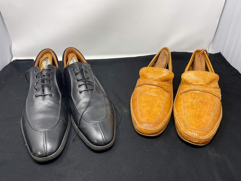"Lot # 171 - A. Testoni Black Label Men's Dress Shoes (Size - 11), Italian ""Bally"" Casual Dress Shoes (Size - 12) (main image)"