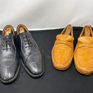 "Lot # 171 - A. Testoni Black Label Men's Dress Shoes (Size - 11), Italian ""Bally"" Casual Dress Shoes (Size - 12)"