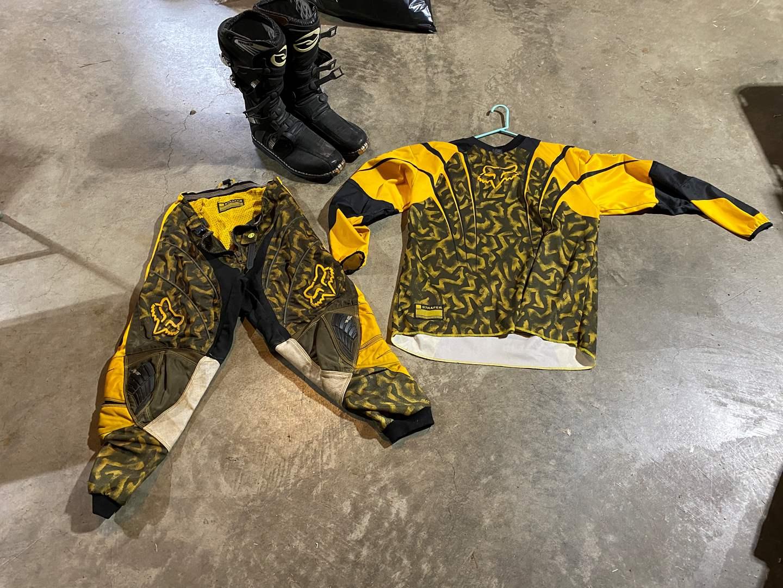 Lot # 190 - FOX Motocross Pants & Shirt (XL), Answer Motocross Boots (Size 14)  (main image)