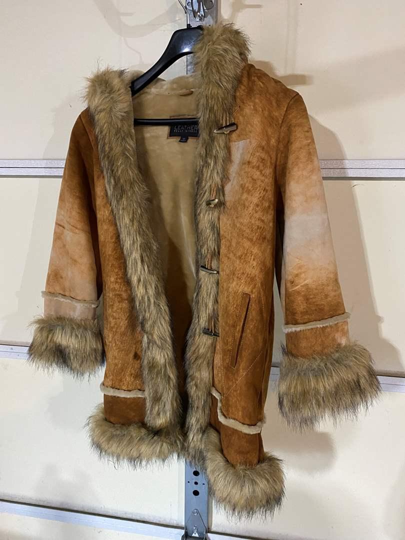 Lot # 192 - Pelle Studio Wilsons Leather Woman's Coat - (Size Medium) (main image)