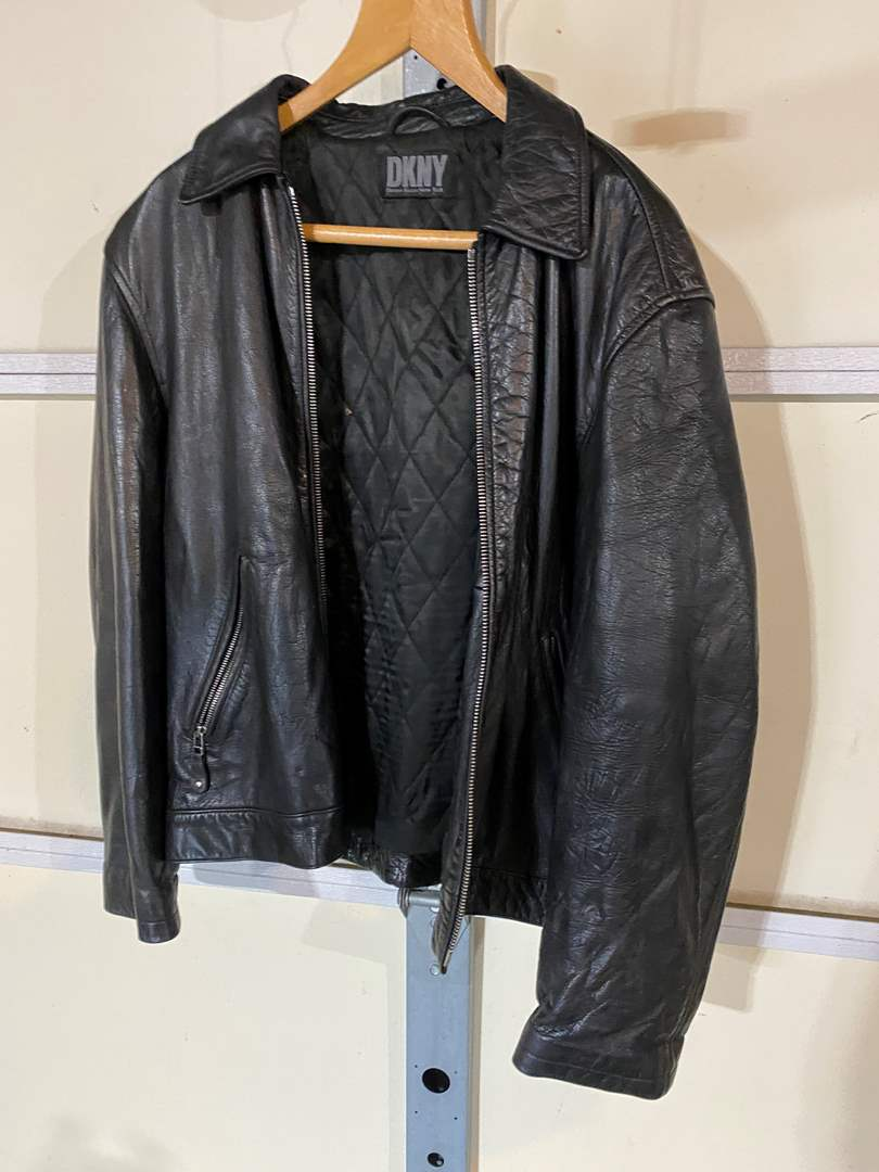Lot # 193 - DKNY Leather Jacket - (No Size Listed - Seems to be a Medium) (main image)