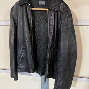 Lot # 193 - DKNY Leather Jacket - (No Size Listed - Seems to be a Medium)