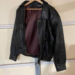 Lot # 194 - Vintage Leather Jacket - (No Size Listed - Possibly a Medium)