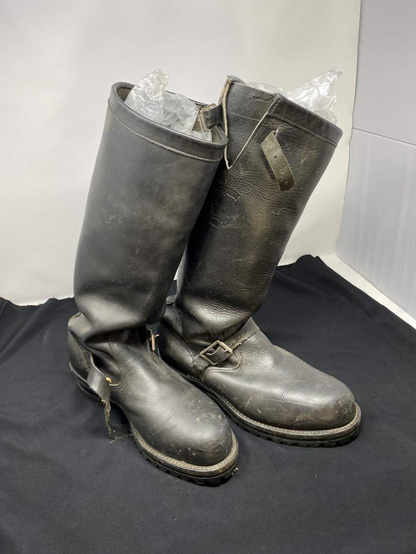 Lot # 198 - Men's Chippewa Leather Riding Boots - (Previous owner had new insoles put on for $100.00) (main image)