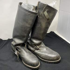 Lot # 198 - Men's Chippewa Leather Riding Boots - (Previous owner had new insoles put on for $100.00)