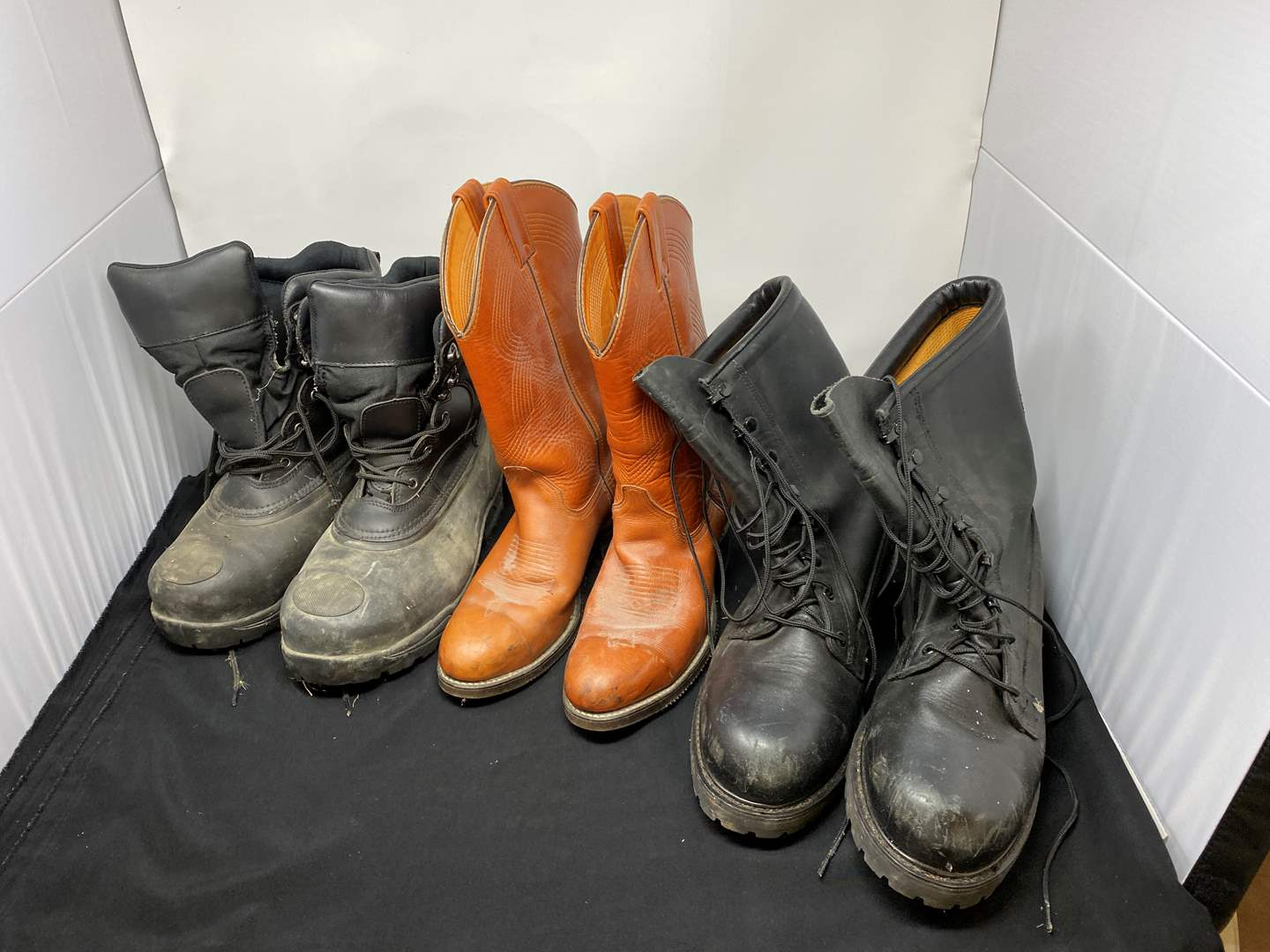 Lot # 199 - Three Pairs of Boots - (See Pictures for Sizes) (main image)