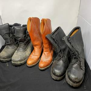 Lot # 199 - Three Pairs of Boots - (See Pictures for Sizes)