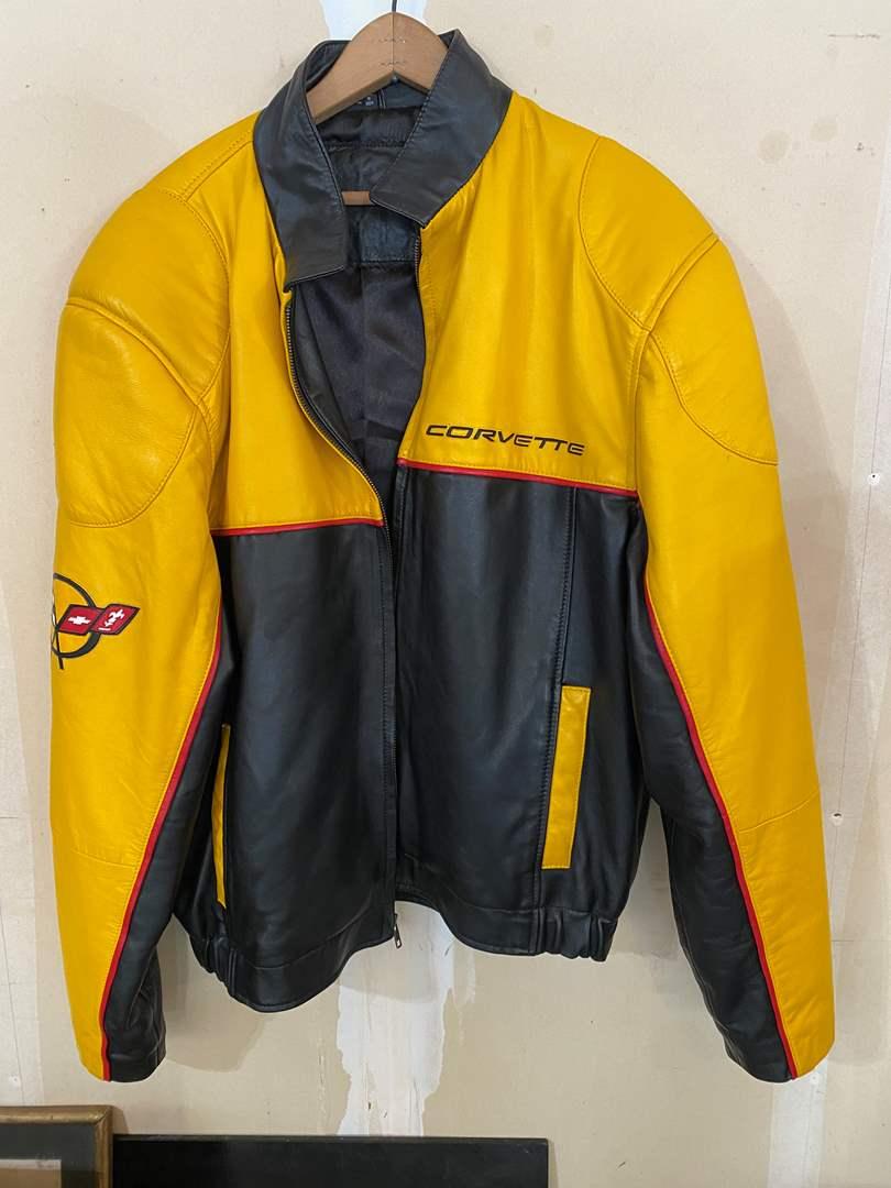 Lot # 201 - Genuine Leather Corvette Jacket - (Size XXL) (main image)