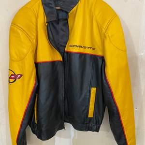 Lot # 201 - Genuine Leather Corvette Jacket - (Size XXL)