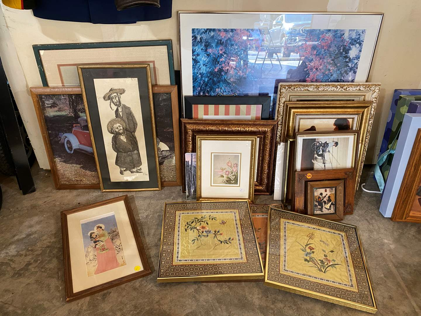 Lot # 204 - Collection of Vintage Framed Artwork & Prints of Various Sizes (main image)