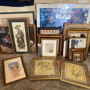 Auction Thumbnail for: Lot # 204 - Collection of Vintage Framed Artwork & Prints of Various Sizes
