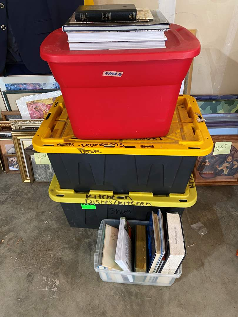 Lot # 211 - Bins Full of Vintage & Modern Books & Magazines - (See Pictures for Titles) (main image)