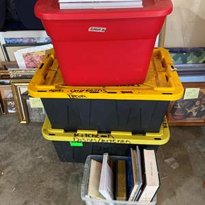Lot # 211 - Bins Full of Vintage & Modern Books & Magazines - (See Pictures for Titles)