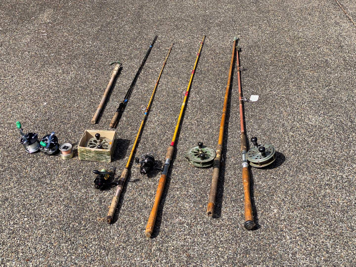Lot # 221 - Vintage/Antique Fishing Rods & Reels - (See Pictures) (main image)