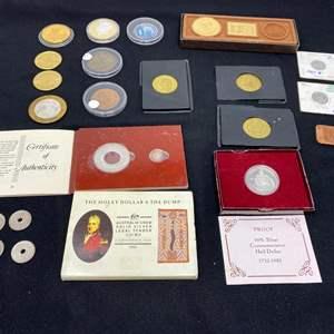 Lot # 100A - .999 Fine Silver Coins, 9/11 Commemorative Coin, Sports Coins, Reno Coins & More