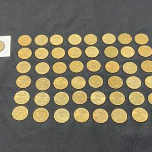 Lot # 100C - Forty-Nine Presidential & Sacagawea Gold Dollars
