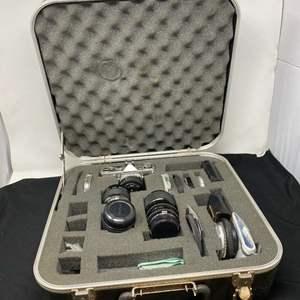 Lot # 127 - Vintage Olympus OM-1 Camera Kit w/ Hard Carrying Case