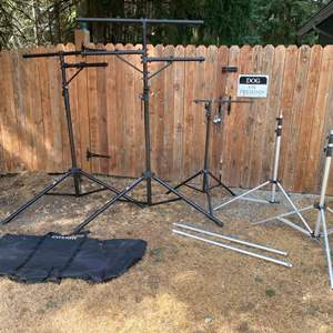 Lot # 225 - On-Stage Light Holders, Aluminum Interfit Stage Tripods