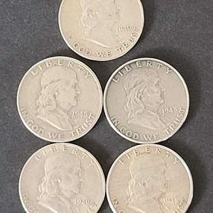 Lot # 1 Ben Franklin Half Dollar Lot#1
