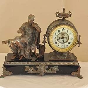 Lot # 16 Antique Ansonia Mantle Clock