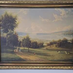 Lot # 27 Large Framed Artwork