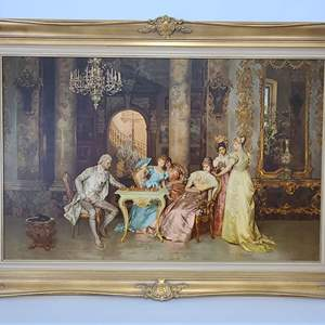 """Lot # 30 Francisco Beda's """"The Chess Game"""""""