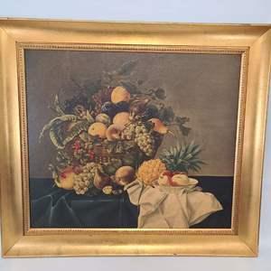 """Lot # 31 Moritz-Michael Daffinger """"Basket with Fruit"""""""