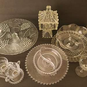 Lot # 38 Vintage Assorted Glassware