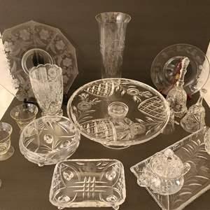 Lot # 39 Vintage Assorted Glassware #2