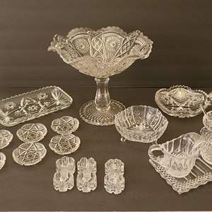 Lot # 40 Assorted Crystal & Glass