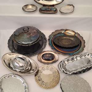Lot # 50 Oneida, Crosby & Assorted Silver & More
