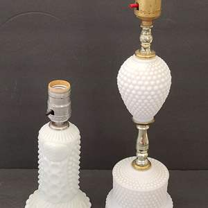 Lot # 59 Milk Glass Lamps