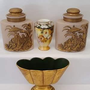 Lot # 63 Nipon Vase & Asian Style Jars