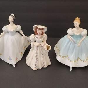 Lot # 77 Vintage 1963 SIGNED Royal Doulton & Florence Ceramics Figures