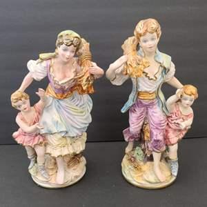 Lot # 79 Vintage Italian Porcelain Statues