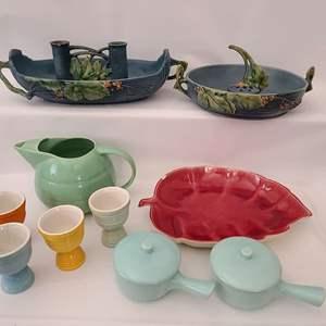 Lot # 81 Roseville & Bauer Ceramic Assortment