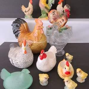 Lot # 95 Fowl Assortment w/ Platter