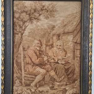 Lot # 111 Antique Framed Tapestry