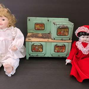 Lot # 112 Vintage Phyllis Parkins Doll, Porcelain Doll & Orphan Annie Oven