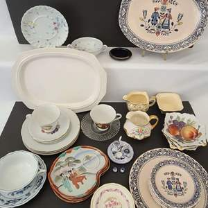 Lot # 116 Mixed Imported China & Dishware. Limoges, Royal Winton & More