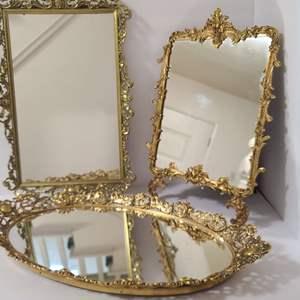 Lot # 120 Vintage Vanity Mirrors