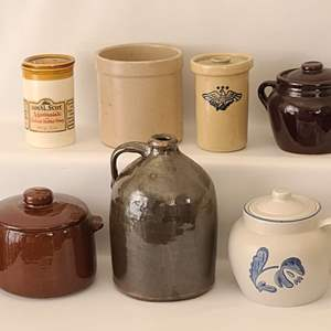 Lot # 131 Assorted Jugs & Jars. 8 Pieces